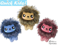 Quick Kids Lion Sewing Pattern