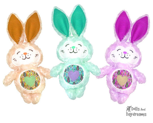bunny rabbit easter sewing pattern easy by dolls and daydreams