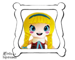 Hand Embroidery Or Painting Bubble Eyes Doll Face Pattern