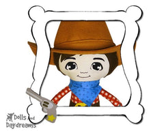 Hand Embroidery Or Painting Mini Manga Boy Doll Face Pattern