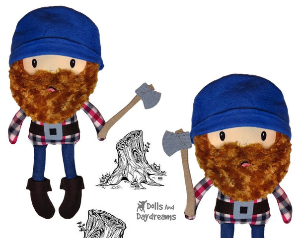 Santa Lumber Jack Sewing Pattern - Dolls And Daydreams - 4