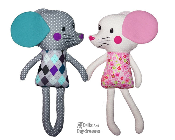 Mouse Sewing Pattern DIY Kids Softie Plush Toy