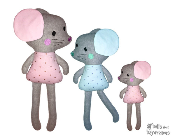 ITH Big Mouse Machine Embroidery Pattern by Dolls And Daydreams