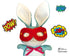ITH Super Hero In the Hoop Machine embroidery Mask Pattern - Dolls And Daydreams - diy superhero