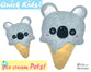ITH Quick Kids Ice Cream Koala Pattern