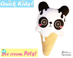 Quick Kids Ice Cream Panda Sewing Pattern