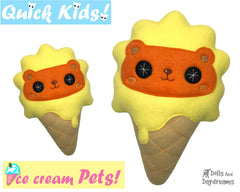 ITH Quick Kids Ice Cream Lion Pattern