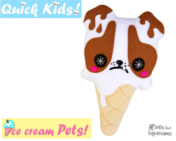 Quick Kids Ice Cream Puppy Sewing Pattern