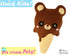Quick Kids Ice Cream Teddy Sewing Pattern PDF  kawaii plush diy by Dolls and Daydreams