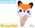 Quick Kids Ice Cream Fox Sewing Pattern PDF  kawaii plush diy by Dolls and Daydreams