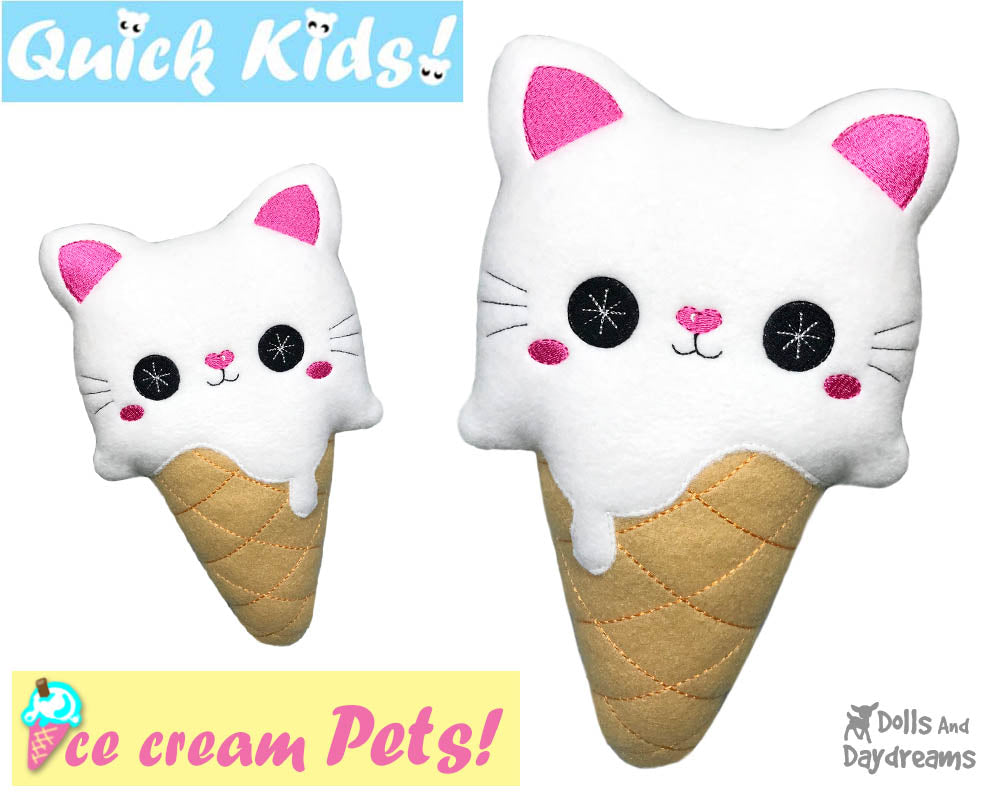 Ith quick kids ice cream cat pattern dolls and daydreams ith quick kids ice cream cat pattern ccuart Images