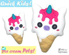 ITH Quick Kids Ice Cream Unicorn Pattern
