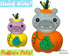 ITH Machine Embroidery Quick Kids Pumpkin Hippo Soft Toy Pattern by Dolls And Daydreams
