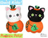Quick Kids Pumpkin Kitty Cat Sewing Pattern PDF  kawaii plush diy by Dolls and Daydreams
