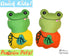 Quick Kids Pumpkin Frog Sewing Pattern PDF  kawaii plush diy by Dolls and Daydreams