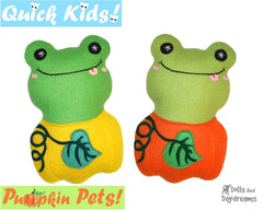 Quick Kids Pumpkin Frog Sewing Pattern