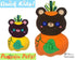 ITH Machine Embroidery Quick Kids Pumpkin Teddy Soft Toy Pattern by Dolls And Daydreams
