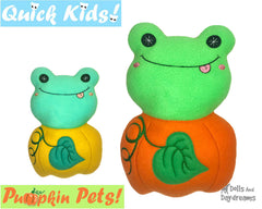 ITH Quick Kids Pumpkin Frog Pattern