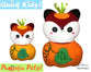 ITH Quick Kids Pumpkin Fox Pattern