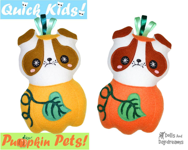Quick Kids Pumpkin Puppy Sewing Pattern by Dolls And Daydreams pdf
