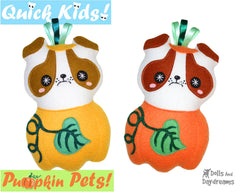 Quick Kids Pumpkin Puppy Sewing Pattern