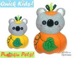 ITH Quick Kids Pumpkin Koala Pattern