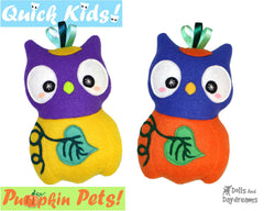 Quick Kids Pumpkin Owl Sewing Pattern