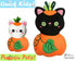 ITH Machine Embroidery Quick Kids Pumpkin Kitty Cat Soft Toy Pattern by Dolls And Daydreams