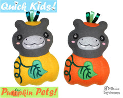 Quick Kids Pumpkin Hippo Sewing Pattern