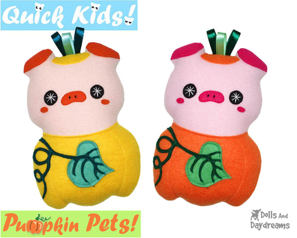 Quick Kids Pumpkin Pig Sewing Pattern by Dolls And Daydreams pdf