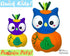 ITH Machine Embroidery Quick Kids Pumpkin Owl Soft Toy Pattern by Dolls And Daydreams