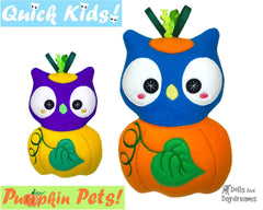 ITH Quick Kids Pumpkin Owl Pattern