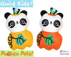 Quick Kids Pumpkin Panda Sewing Pattern