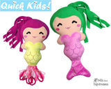 ITH Quick Kids PLUS Mermaid Pattern by Dolls And Daydreams