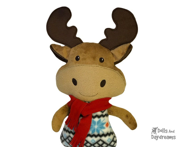 ITH Big Moose Pattern Embroidery Machine Toy