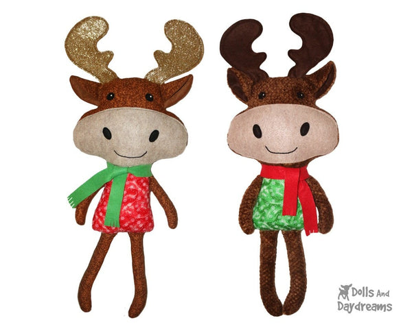 Moose Sewing Pattern Kids Softie