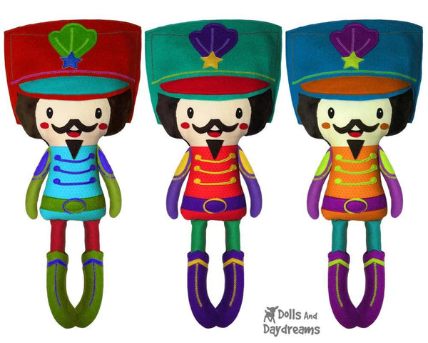 Nutcracker PDF Sewing Pattern Christmas DIY Decor kids toy