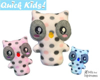 ITH Quick Kids Owl Pattern