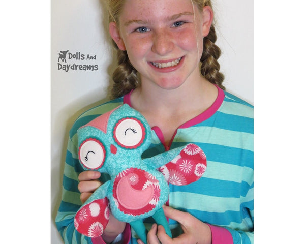 Sleepy Time Owl Sewing Pattern - Dolls And Daydreams - 3