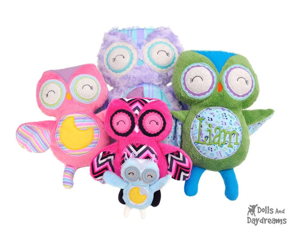 Embroidery Machine Owl Pattern - Dolls And Daydreams - 3