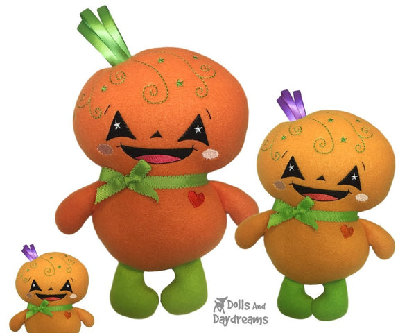 Embroidery Machine Pumpkin Baby Pattern - Dolls And Daydreams - 5