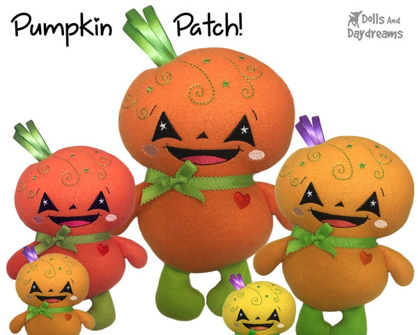 Embroidery Machine Pumpkin Baby Pattern - Dolls And Daydreams - 3