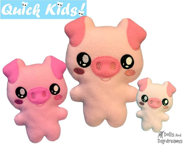 ITH Quick Kids Pig Pattern