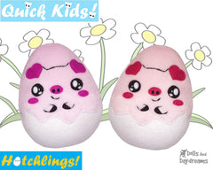 Quick Kids Pig Hatchling Sewing Pattern