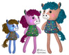 ITH Yarn Hair Horse Machine Embroidery Pattern DIY Kids Soft Plush Toy by Dolls And Daydream