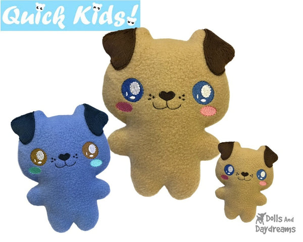 ITH Quick Kids Puppy Pattern teach children to sew