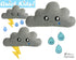 ITH Quick Kids Rain Cloud Pattern teach children to sew