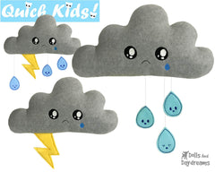 ITH Quick Kids Rain Cloud Pattern