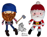 Santa Lumber Jack Sewing Pattern - Dolls And Daydreams - 1