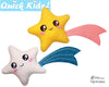 Quick Kids Shooting Star Softie Sewing Pattern teach kids to sew